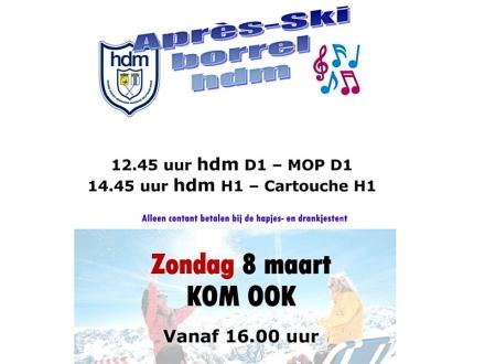 8 maart Après-ski borrel