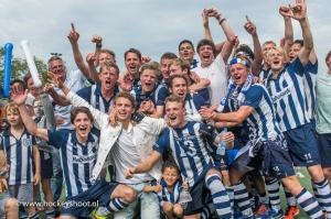 11-07-2017 H1 wint 3de play-off wedstrijd. Hoofdklasse!